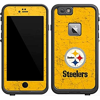 best sneakers 962c8 029fc Skinit Pittsburgh Steelers - Alternate Distressed LifeProof Fre iPhone 6/6s  Plus Skin for CASE - Officially Licensed NFL Skin for Popular Cases Decal  ...