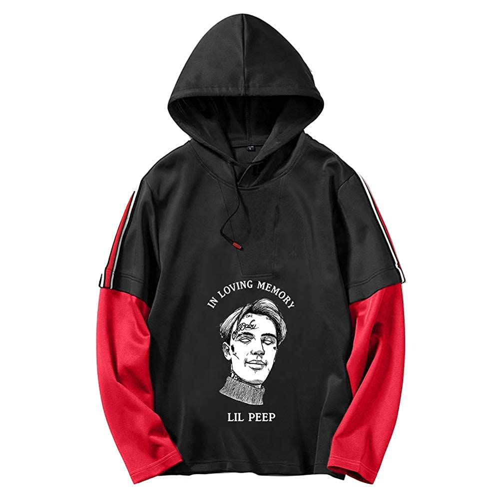 Lil Peep Pullover Sweat-Shirt 2 en 1 de Sport d/écontract/é Sweats /à Capuche Pull imprim/é Tops /à Manches Longues Unisexe