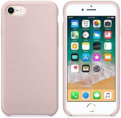 CABLEPELADO Funda Silicona iPhone 7/8 Textura Suave Color Rosa ...