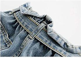 OBMY Corbata De Cintura Pantalones Cortos De Mezclilla Pantalones ...