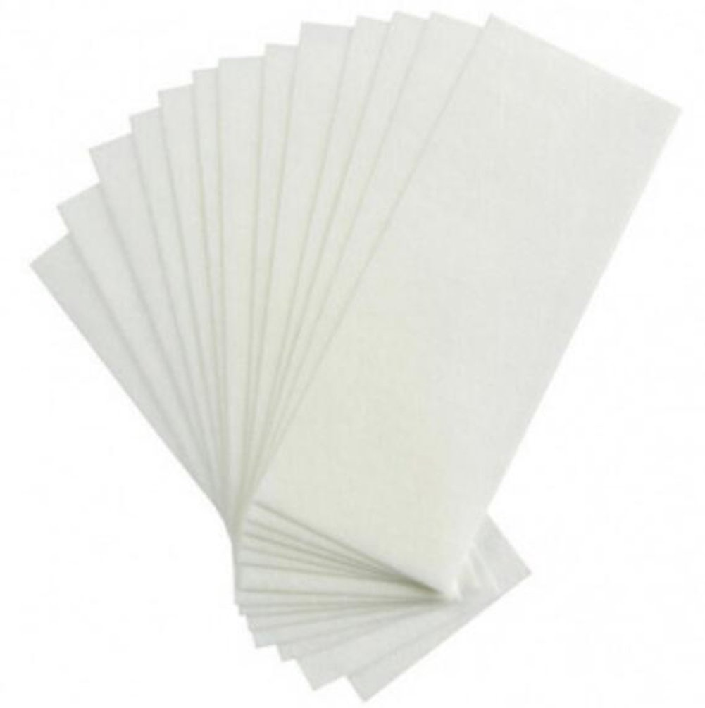 100PCS Non Woven Large 8x3inch Body and Facial Wax Strips Epilator Professional Hair Removal Wax Paper erioctry