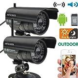Lightinthebox®2 PCs IP Camera Outdoor Waterproof Security System Wireless CCTV WIFI Night With Free P2P
