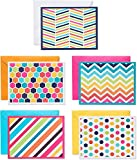 American Greetings Blank Cards with Envelopes, Bright Patterns (30-Count)