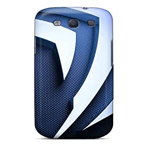 Galaxy S3 AQR5181wVHi 3d Metal Nvidia Logo Tpu Silicone Gel Cases Covers. Fits Galaxy S3