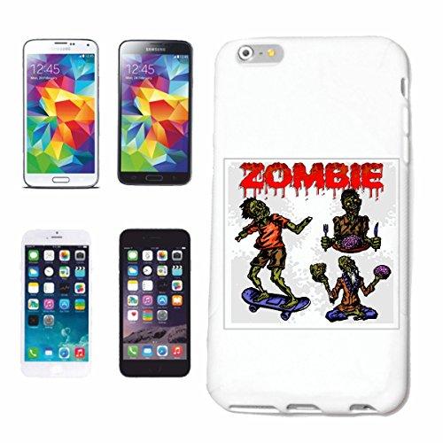 """cas de téléphone iPhone 7S """"ZOMBIE ON SKATEBOARD BIKER SHIRT WALKING ZOMBIE CLUB DEAD MOTORCYCLE GOTHIC CHOPPER DIXON BAND SHIRT"""" Hard Case Cover Téléphone Covers Smart Cover pour Apple iPhone en blan"""
