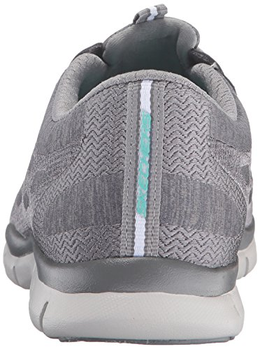 Skechers Sport Women's Gratis Bungee Fashion Sneaker Grey/White cheap sale manchester great sale pay with visa online for sale online c1o91