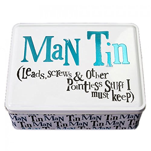 Gifts For Men - Man Tin - Leads, Screws & Other Pointless Stuff I Must Keep - Ideal Gift For Him