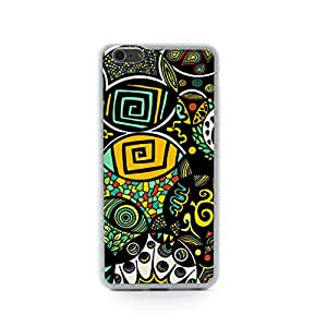 """Euclid+ - Ethnic Colorful Abstract Tribal Pattern Embossed Design Plastic+TPU Case Cover for Apple iPhone 6 Plus 6th 6Generation 5.5"""" inch"""