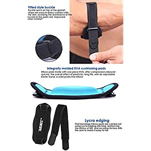 Mcolics Tennis Elbow Brace (2 Pack), Tennis & Golfer's Elbow Pain Relief with Compression Pad, Wrist Sweatband - Best Elbow Strap Band for Men and Women