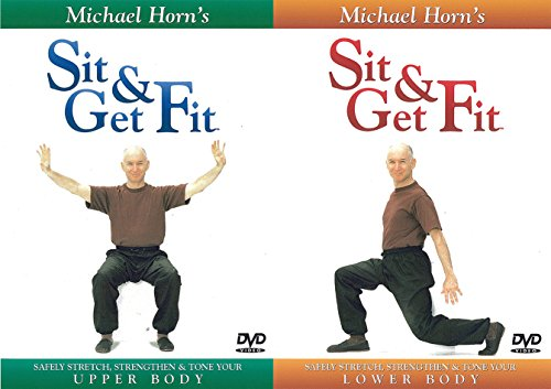 Sit and Get Fit - Upper + Lower Body - Exercise for Seniors - by Michael Horn (2 DVD SET)