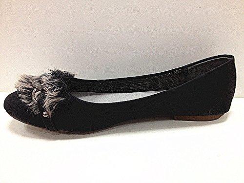 Women's Flat Ballerinas Shoes mocassines C35Black xFHfjoCms