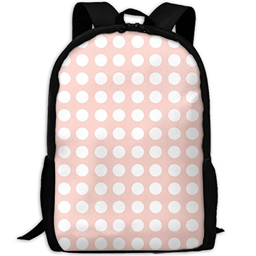 Student Backpack, School Backpack For Laptop,Most Durable Lightweight Cute Travel Water Resistant School Backpack - Blush Polka Dot Fabric (2547)