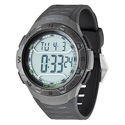 timberland lynnwood silver dial black rubber strap gents watch timberland tbl13552jpbb mens digital lcd watch 100m wr