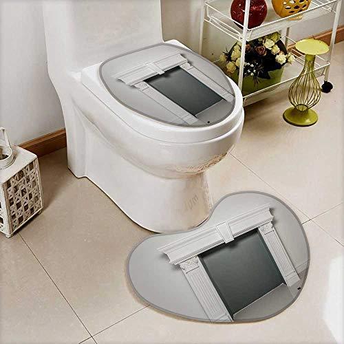 Printsonne Bathroom Non-Slip Floor Mat fireplace mantel or mantelpiece Cushion Non-slip by Printsonne