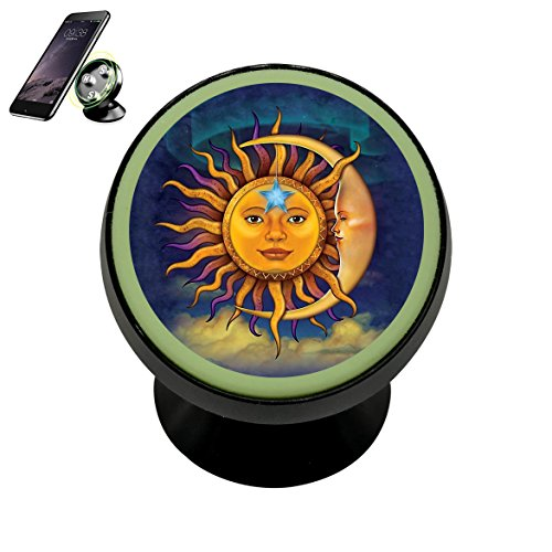 Sun Moon Magnetic Phone Car Mount Holder Universal 360 Rotat