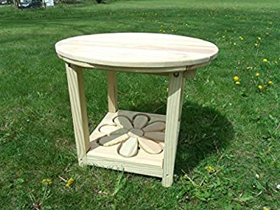 Pressure Treated Pine Designs Unfinished Daisy Cut Out End Table