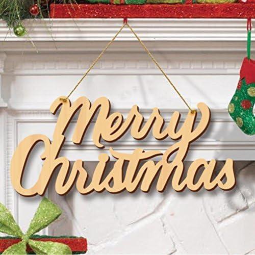 amazon com feliz navidad letra de madera adornos de navidad rustico colgante puerta decoracion para colgar decoracion de fiesta home kitchen amazon com