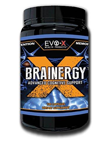 Brainergy-X (120 Capsules): Elue Brain + supplément d'énergie : Focus, cerveaux améliorant, Nootropique. Premium, caféine + L-théanine. Produit sûr ! EVO-X platine de 100 % garanti !