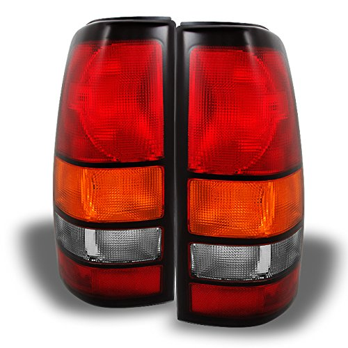 - For GMC Sierra Pickup Truck Red Clear Rear Tail Lights Brake Lamps Replacement Pair Left + Right