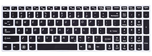 Keyboard Cover for Lenovo IdeaPad Z50, Y50, Y500, Y510P, Essential G50, G500, G500s, G505, G505s, G510, G570, G575, G770, G580, G585, G710, G700, G780, Flex 15, Flex 2 Series 15.6-Inch Laptop, Black
