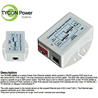 Tycon Power TP-POE-2456D 24VDC Passive POE IN to 802.3af/at POE OUT