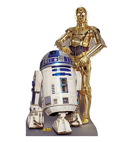 R2-D2 C-3PO Star Wars Lifesize Cardboard Cutout Standup Decoration Party Standee