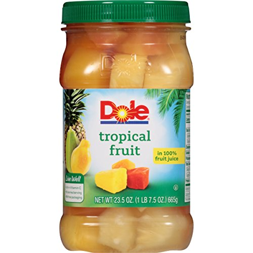 - Dole Tropical Fruit in 100% Juice, 23.5 Ounce Jar