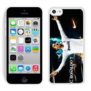 Soccer Player Cristiano Ronaldo 23 White iPhone 5C Hard Plastic Phone Cover Case