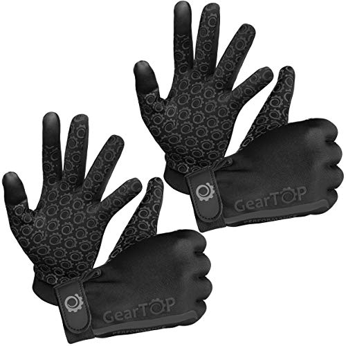 Touch Screen Gloves - Great for Running Rugby Football Walking (Black, 2 Pack - Small)