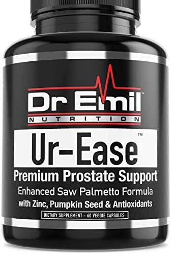 Dr. Emil's UR-Ease - Prostate Support w/Saw Palmetto and Potent Antioxidants - Prostate Health Supplement for Frequent Urination and Bladder Control (60 Veggie Capsules)