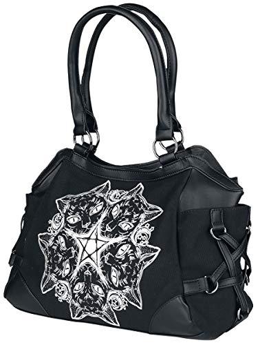 Banned Apparel Esotericat Black Cat Wiccan Star Pentagram Shoulder Bag Purse