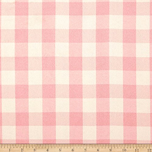 Ben Textiles Picnic Gingham Yarn-Dyed Pink/White Fabric by The Yard
