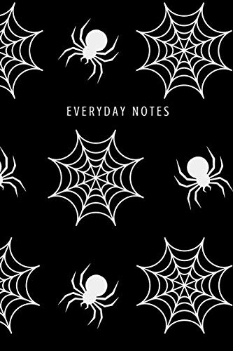 Everyday Notes: Lined Journal/Diary Fun Cool Black and White Halloween with Spiderwebs and Spiders]()