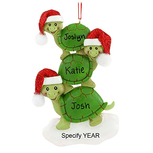 Christmas Turtle 3 Ornament
