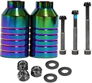 """Kutrick Neo Chrome Pro Scooter Pegs Set with Axle Hardware 2.5"""", 3.0"""",3.5"""" for Freestyle"""
