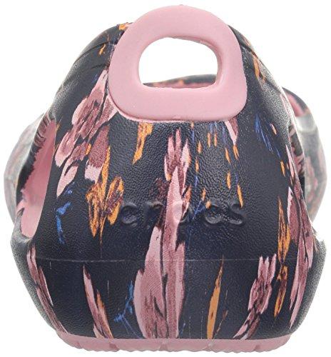 Pour Kadee Black Graphic floral Femmes Crocs Flats nFwB6xx