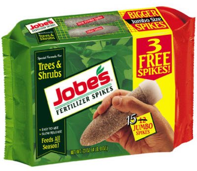 Jobes 01610 Tree Fertilizer Spikes 16-4-4 15 Pack