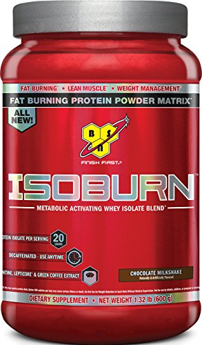 BSN ISOBURN, Lean Whey Protein Powder, Fat Burner for Weight Loss with L-carnitine – Chocolate Milkshake, (20 Servings)