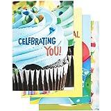 DaySpring Birthday Boxed Cards, Bright Birthday, 12 Count (62991)