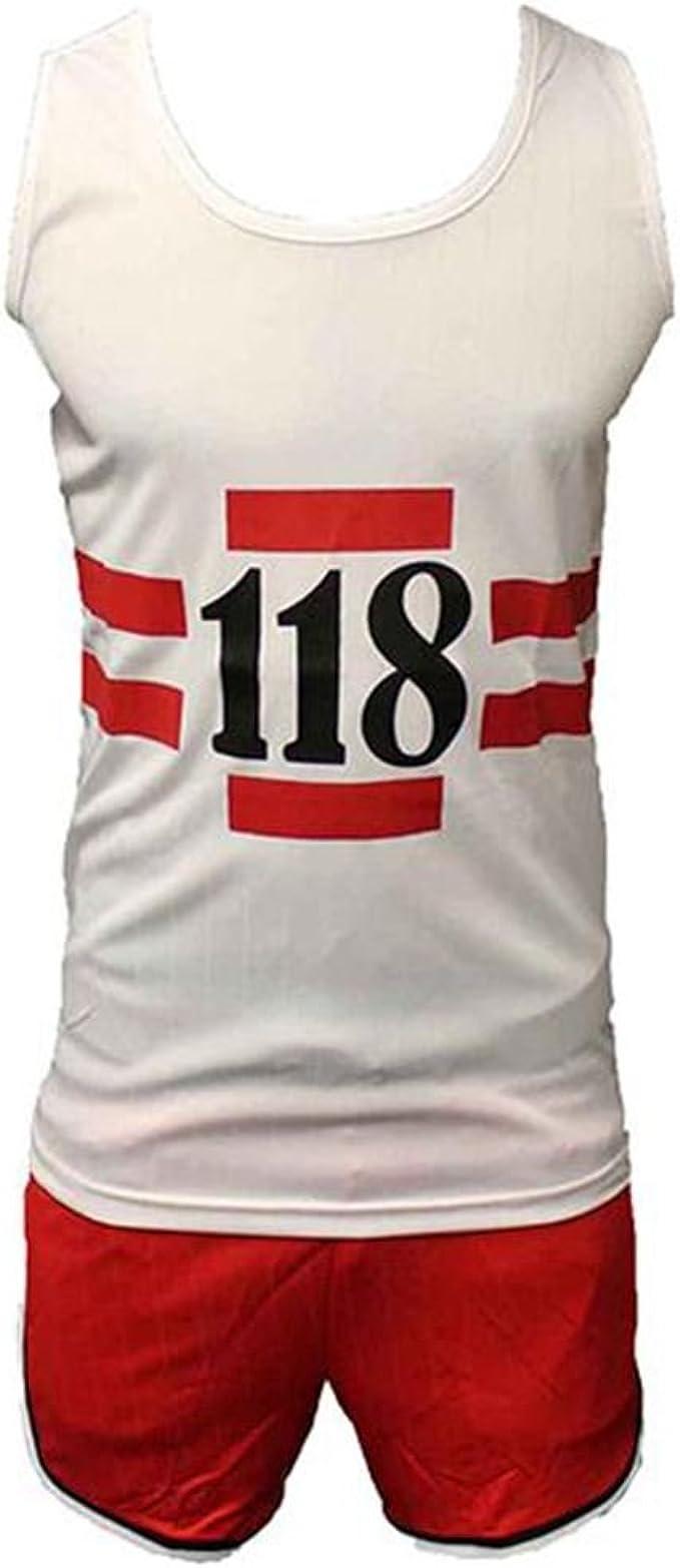 118 118 Divertido 1980s Atletismo Maratón Retro Disfraz camiseta & Pantalones Cortos Disfraz: Amazon.es: Ropa y accesorios