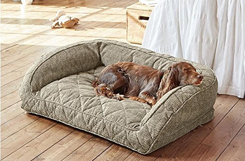 Orvis Comfortfill Bolster Dog Bed Large Dogs Up To 27-40 Kg, Charcoal,