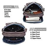 BISON DENIM Leather Shoulder Bag for Men Crossbody