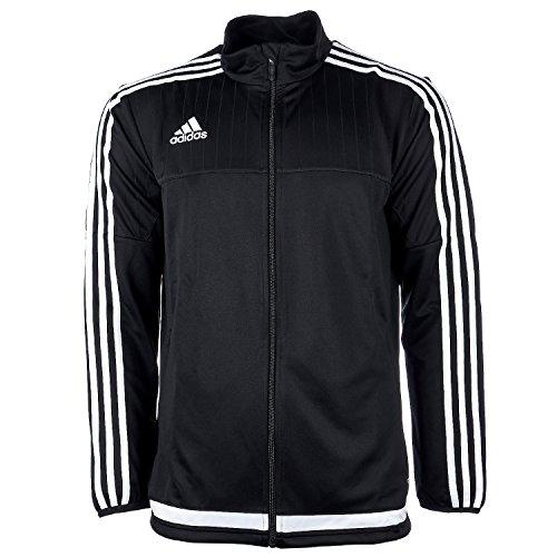 adidas Mens Soccer Tiro 15 Training Jacket, Black/White/Black, X-Large