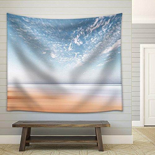 Light Blue Sky Seashore Fabric Wall