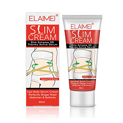 Slimming Cream,Slim Extreme 3D Liposuction Body Serum, Professional Anti-Cellulite Cream Perfectly Shape Waist,Abdomen and Buttocks(60ml)