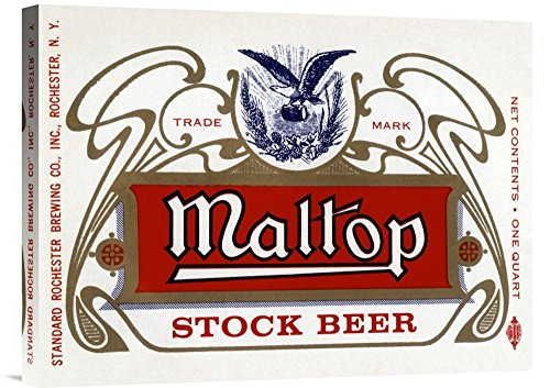 Maltop Stock Beer - Global Gallery Budget GCS-375113-22-142 Vintage Booze Labels Maltop Stock Beer Gallery Wrap Giclee on Canvas Wall Art Print