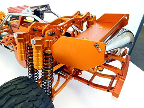 King Motor Orange Aluminum Dual Shock Conversion Kit Fits HPI Baja 5b 5T 5SC Rovan Buggy