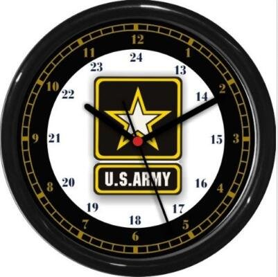 Personalized Custom U.S. Army 24 Hour Wall Clock Military Patriotic Service Gift Wall Clock Quartz 9.65