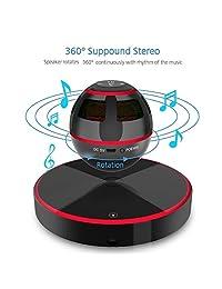 Dent Levitating flotante Altavoz, Altavoz con Bluetooth 4.0, rotación de 360 grados, botón de control táctil y colorido LED intermitente mostrar magnético [último modelo]