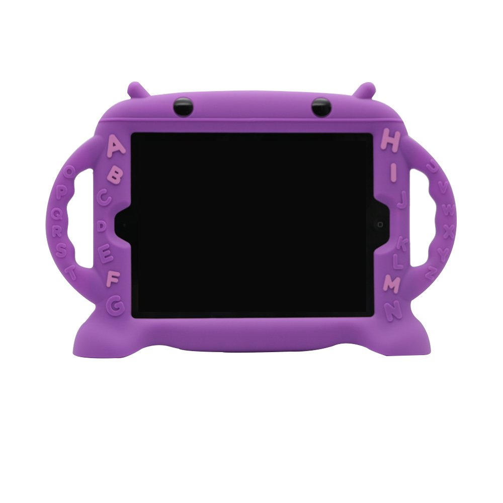 【ラッピング不可】 iPad 2ケースfor 2ケースfor Kids、BPAフリーかわいいシリコン製ケースハンドルfor Ipad 2/ B073TXP2WQ 3// 4グリッド構造[耐衝撃] [スリムデザイン] パープル パープル B073TXP2WQ, ビッツ&ボブ:2ab000a8 --- a0267596.xsph.ru